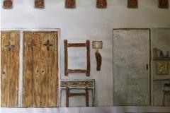 hálószoba falnézet
